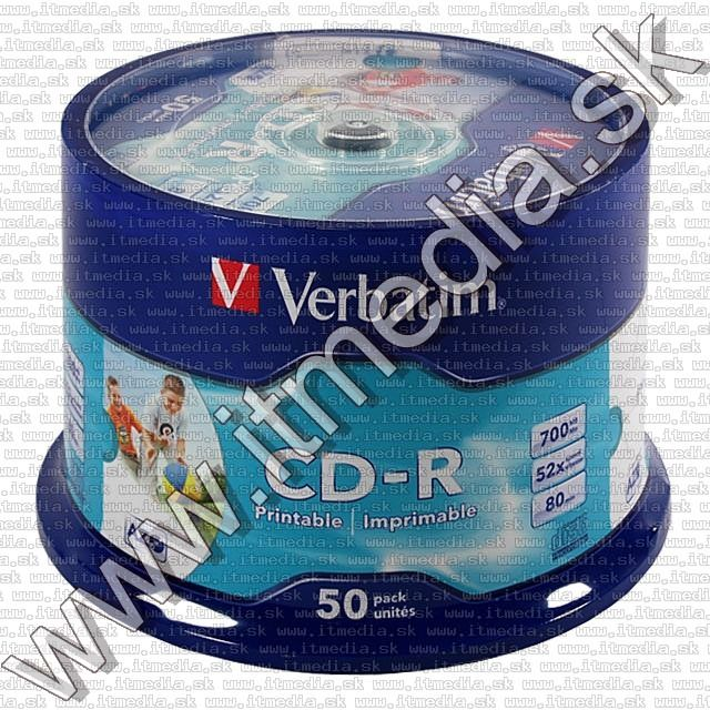 Image of Verbatim CD-R ***FULLPRINT NO-ID*** 52x 50cake (43438) (IT6017)