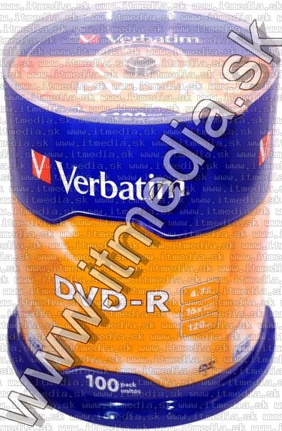 Image of Verbatim DVD-R 16x 100cake (43549) (IT6198)