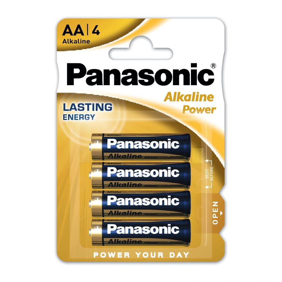 Image of Panasonic battery ALKALINE LR04 4-pack AA (IT14673)