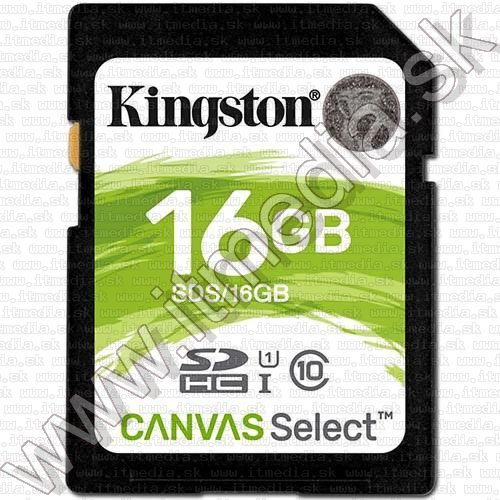 Image of Kingston Canvas Select SD-HC card 16GB UHS-I U1 Class10 (SDS) (IT13475)