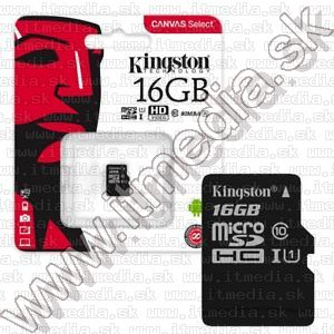 Image of Kingston microSD-HC card 16GB UHS-I U1 Class10 Without adapter!!! (80/10 MBps) (IT13471)