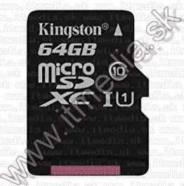Image of Kingston microSD-XC card 64GB UHS-I U1 Class10 (80/10 MBps) Canvas Select (IT13929)