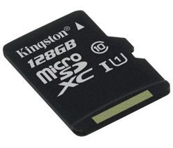 Image of Kingston microSD-XC card 128GB UHS-I U1 Class10 (80/10 MBps) Canvas Select (IT13578)