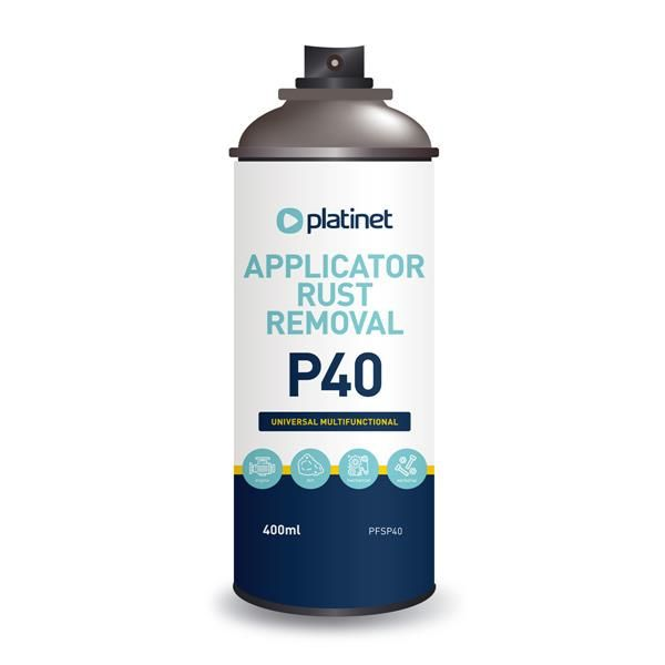 Image of Platinet P40 Rust Remover Spray 400ml [45093] (IT14295)