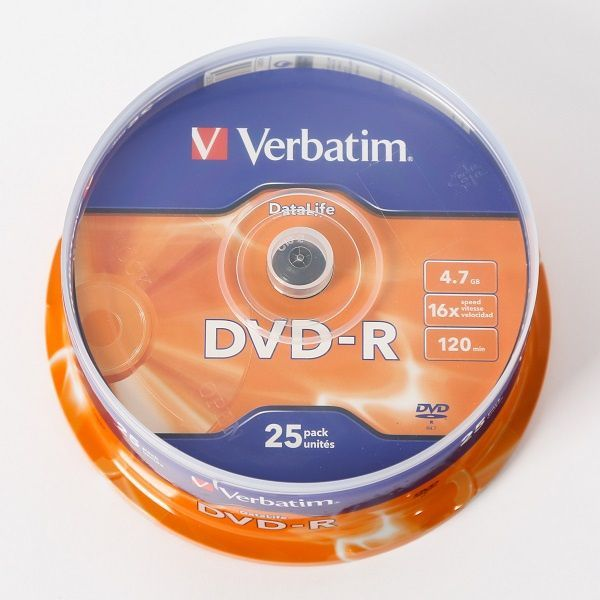 Image of Verbatim DVD-R 16x 25cake [43830] INFO! (IT14323)