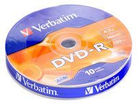 Image of Verbatim DVD-R 16x **10cw**  (43729) Taiwan (IT7275)