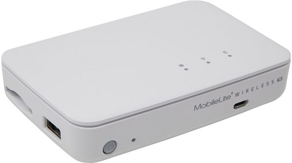 Image of Kingston MobileLite Wireless (Wifi Databank 5400mAh) White INFO!! MLWG3ER [EOL] (IT13881)